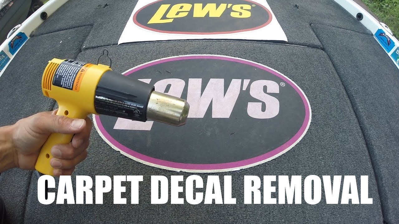 How to remove a carpet decal on a bass boat