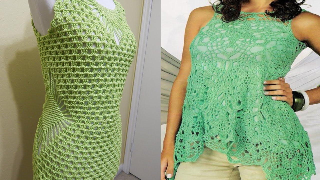 Blusa para mujer tejida en crochet ganchillo dise os for Disenos de ganchillo