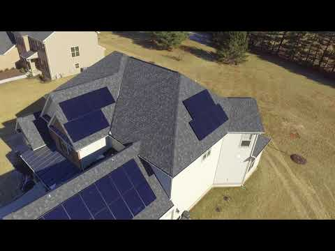Drone Flyover x21 All Black 350watt SunPower