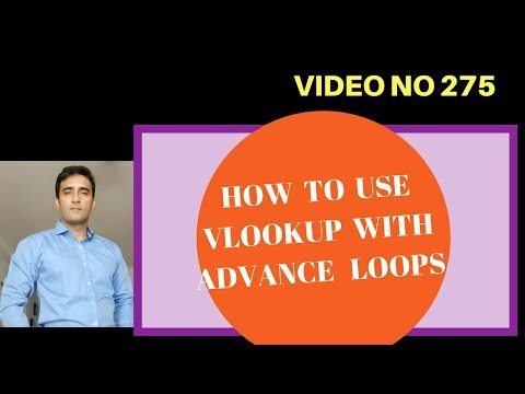 Learn Excel - Video 275- VBA - Vlookup with Loops - Advance Lookup