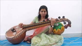 Muripala mukunda or Kanna Nidurinchara on Veena
