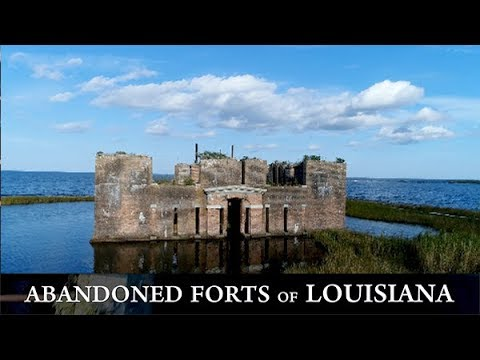 Why is pre-Civil War era Fort Proctor sinking into Lake Borgne?