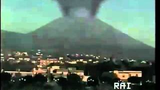 The Vesuvio erupting