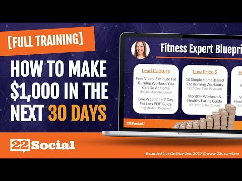 Turn Your Expertise Into Over $1,000 Of Additional Online Sales In The Next 30 Days With 22Social