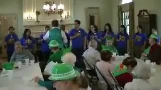 Jones Home St  Patricks Party Interact HS Students from the Newburgh Free Academy