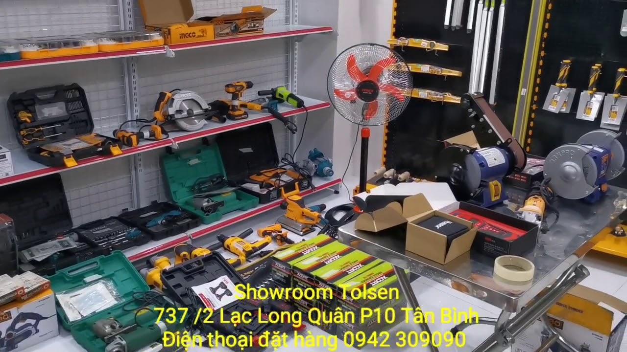 Chấp nhận thanh toán qua thẻ tại Showroom Tolsen miễn phí cà thẻ.