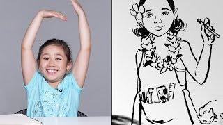 Crystal Describes Her Dream Job to Koji the Illustrator | Kids Describe | HiHo Kids