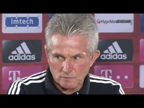 Champions League FC Bayern vs. FC Barcelona Auslosung - Pressekonferenz - Jupp Heynckes