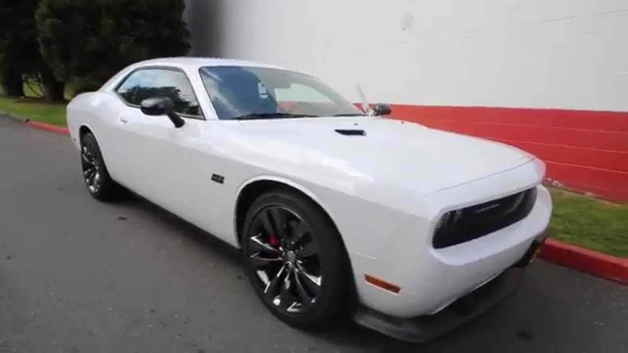 2014 dodge challenger srt8 core white eh284167 seattle bellevue youtube. Black Bedroom Furniture Sets. Home Design Ideas