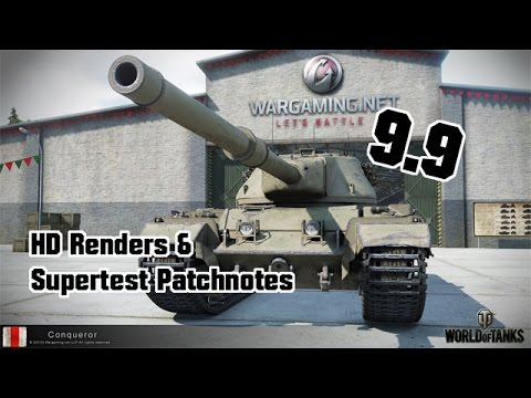 9.9 Supertest Patchnotes & HD Pictures || World of Tanks