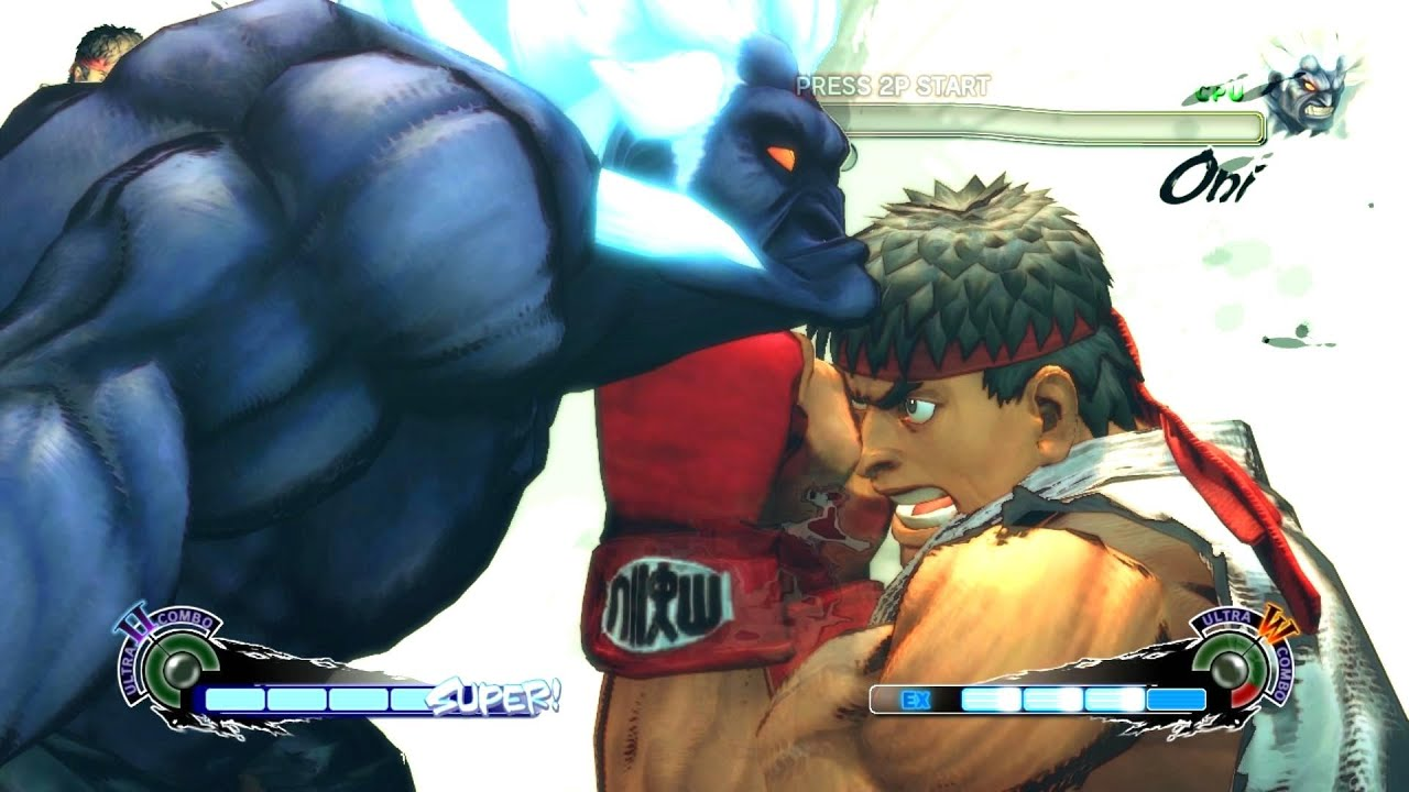Ultra Street Fighter 4 - Ryu 60FPS Gameplay Playthrough + Secret Shin Oni Boss Fight