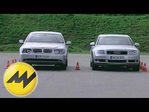 Auto Test Vergleich Audi A8 4.2 vs. BMW 745i