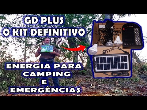 Sistema de energia solar portátil a solução e o item definitivo para emergências e Camping