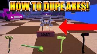 COMMENT À DUPE AXES! (NOUVELLE MÉTHODE DUPE TOUJOURS EN COURS 2019!) [NOT PATCHED] LUMBER TYCOON 2 ROBLOX
