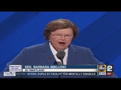 Sen. Barbara Mikulski officially nominates Clinton at the DNC