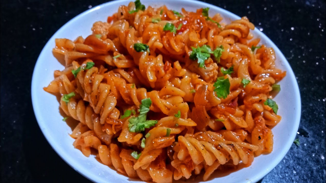 Indian Style Masala Macaroni Pasta Recipe Kids Lunch Box Recipe Vegetable Pasta By Jai Padhu