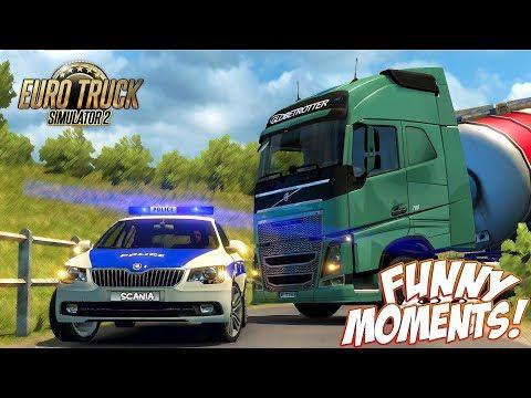 Euro Truck Simulator 2 Multiplayer Funny Moments & Crash Compilation #81