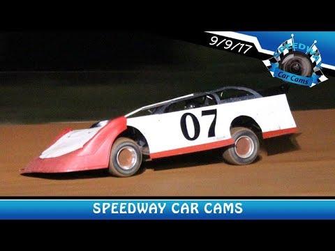 #07 Brian Qualls - Super Late Model - 9-9-17 Fort Payne Motor Speedway - In Car Camera