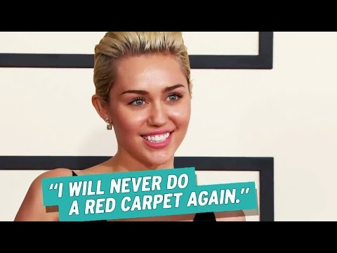 Miley Cyrus Vows to Never Walk Another Red Carpet, Reveals Liam Hemsworth's Guilty Pleasure