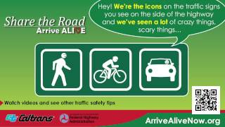 Share the Road -- Arrive Alive on the Radio: Freeway Riding PSA