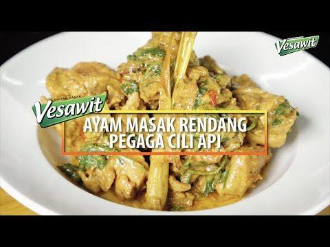 Resepi Ayam Masak Rendang Pegaga Segmen Dapur Panas Bersama Vesawit Eps 3