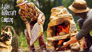 4 day Bushcraft: Building the ULTIMATE Primitive Oven
