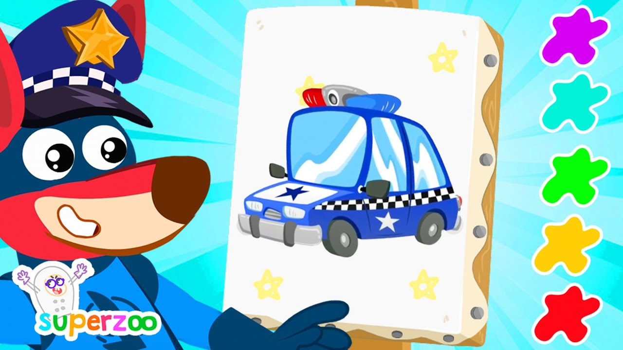 NEW! 🚒 Learn to draw with Kangu and the vehicles! | Superzoo