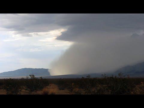 Dust Storm near Twentynine Palms, CA (with Time Lapse) - July 30, 2015