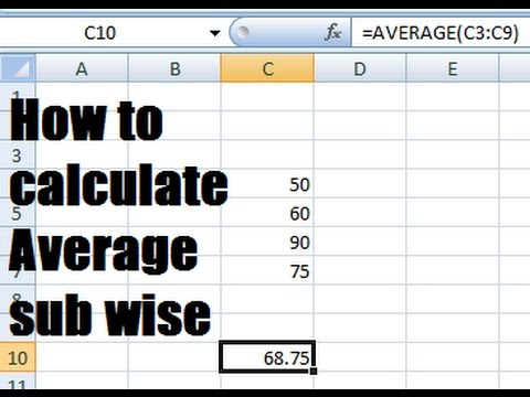how to calculate average percentage in excel - YouTube - percentage in excel