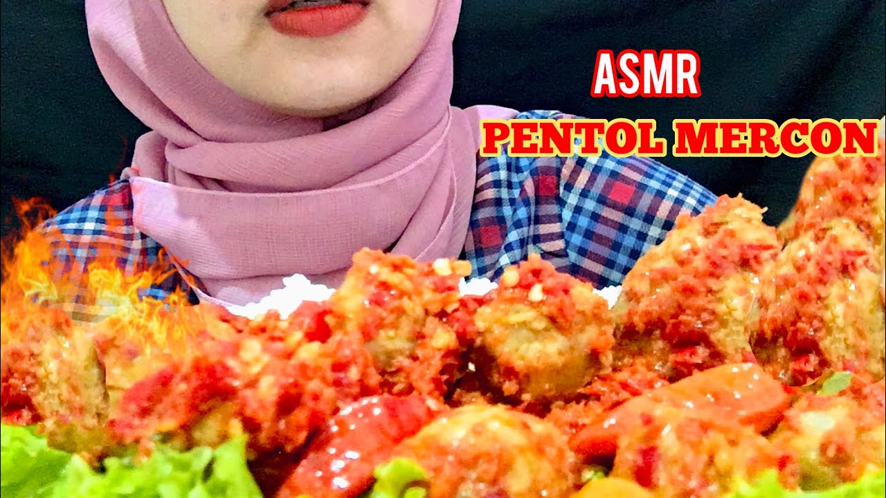 ASMR PENTOL MERCON   EATING SOUNDS   ASMR INDONESIA - YouTube