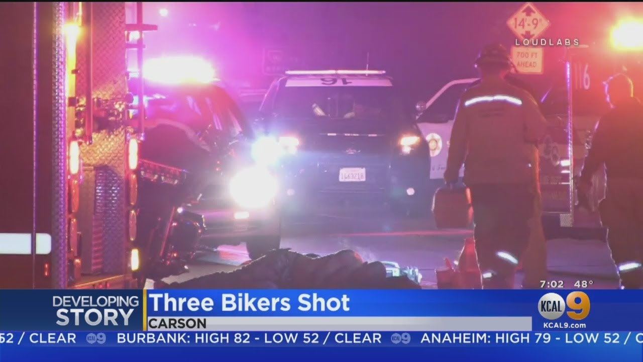 3 Motorcyclists Shot On 110 Freeway In Gardenia