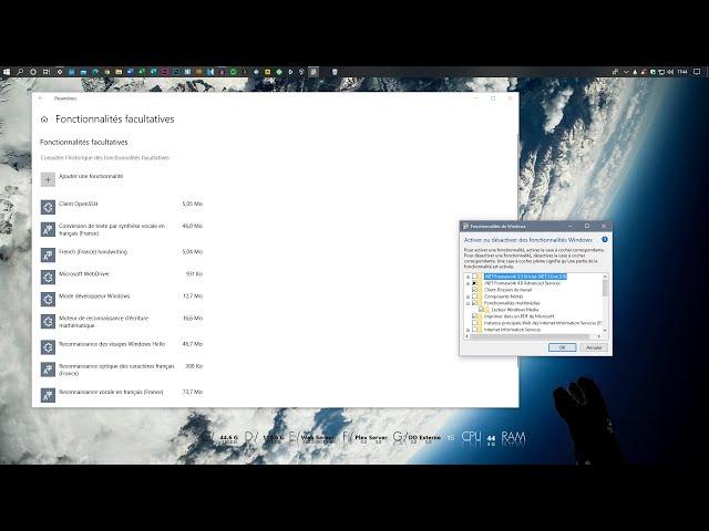 Désinstaller des fonctionnalités facultatives dans Windows 10