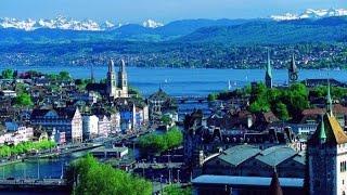 Отдых в Швейцарии. Поездка по улицам Женевы 5/ Holidays in Switzerland. Ride through the streets