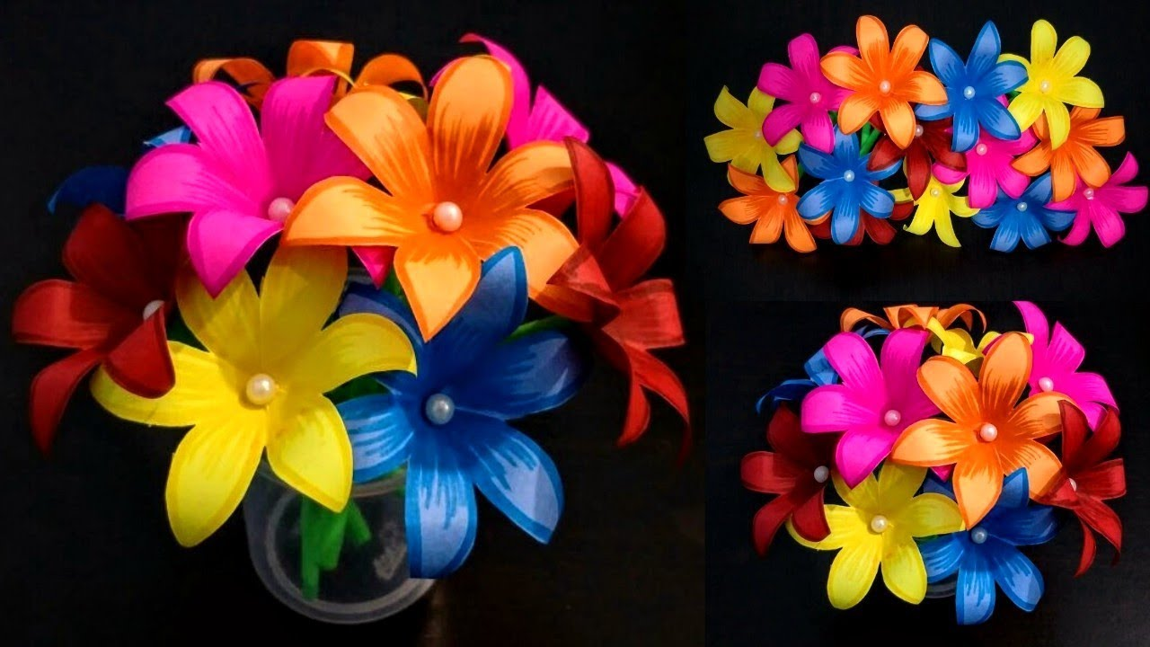 DIY: Home Decoration Idea/How to Make Beautiful Paper Flower Bouquet ...