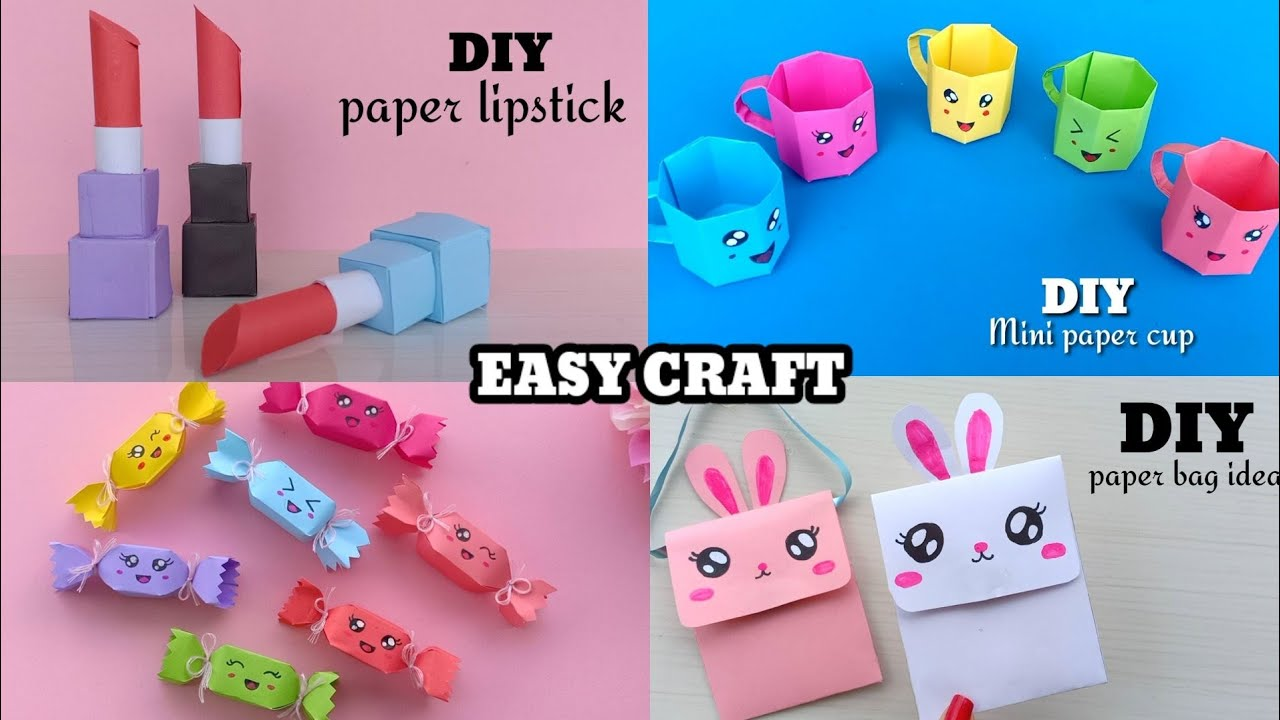 5 EASY CRAFT IDEAS | Craft Ideas | DIY Crafts / school craft / Origami craft