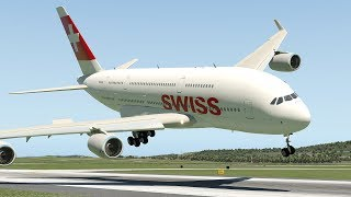 Swiss Airlines A380 Emergency Landing At Zurich | X-Plane 11