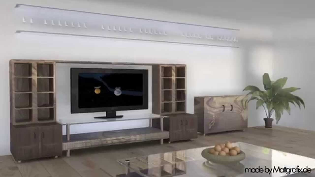 3D Animation Walkthrough Living Room Bar Kitchen Bathroom