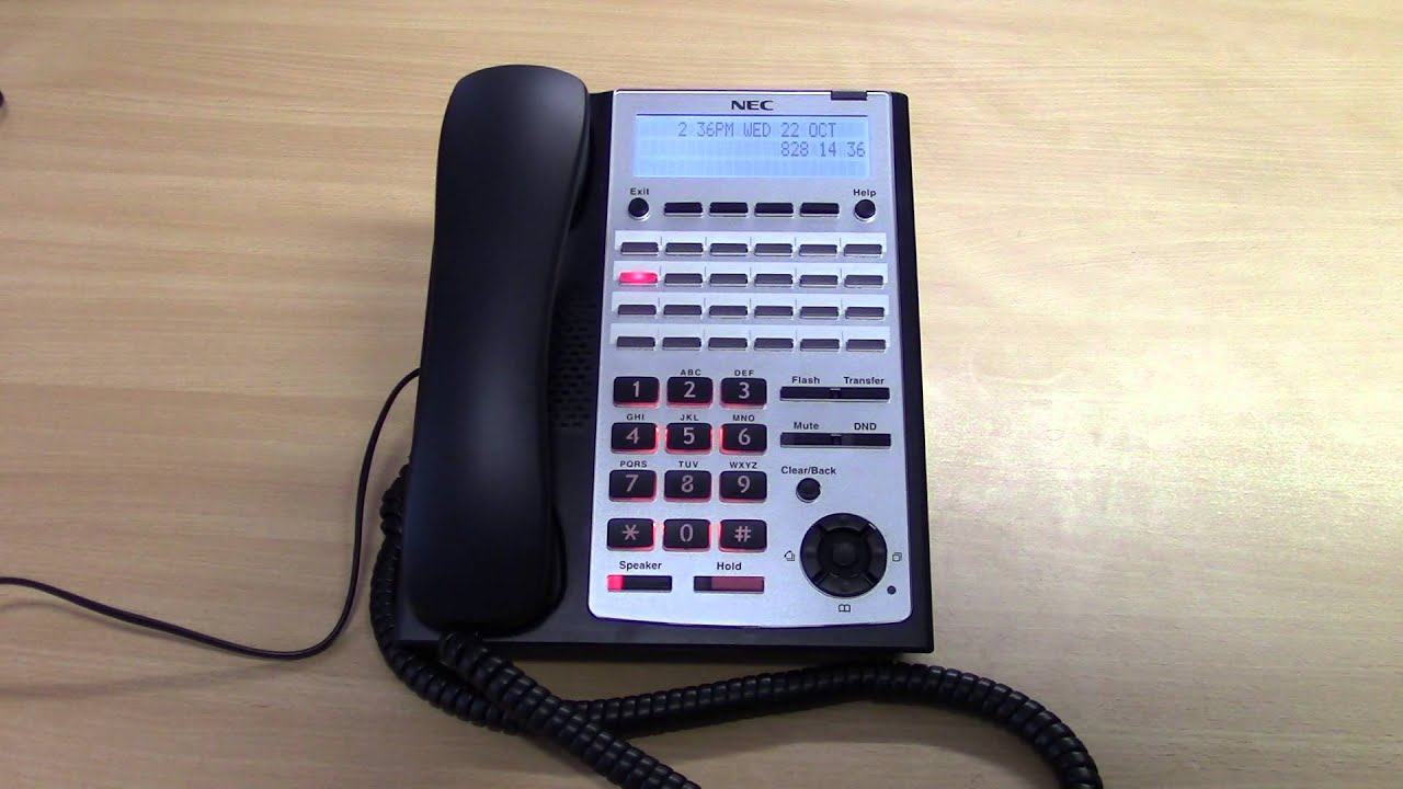 How to change the time on an NEC SL1100 Telephone System