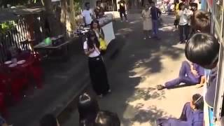 Thailand girl's supernatural power at the bus stop
