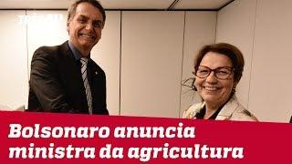 Jair Bolsonaro anuncia a deputada Tereza Cristina (DEM-MS) como ministra da Agricultura