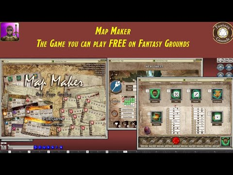 Map Maker, the free game available on Fantasy Grounds Forums - YouTube