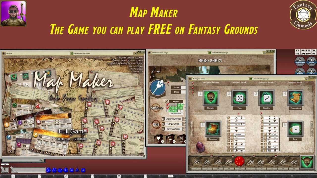 Map Maker, the free game available on Fantasy Grounds Forums
