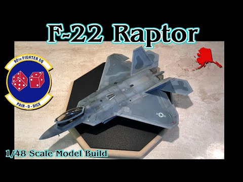 "Building the Hasegawa 1/48th scale F-22 ""Raptor"" Fighter Jet"