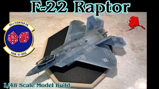 """Building the Hasegawa 1/48th Scale F-22 """"Raptor"""" Fighter Jet"""