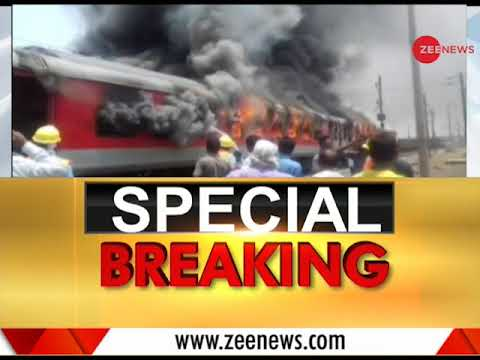 Special Breaking: Andhra Pradesh AC Superfast Express train catches fire near Gwalior
