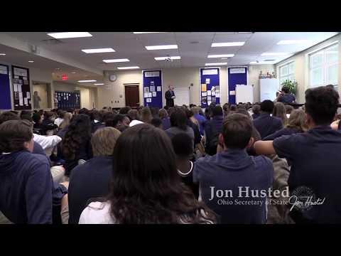 Ohio Secretary of State Jon Husted Visits The Wellington School