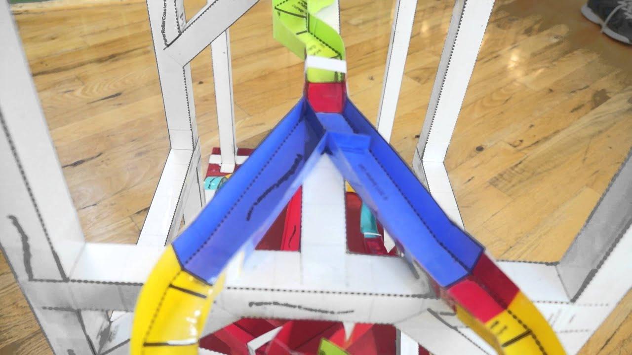 The 2013 Columbia Mini Maker Faire Paper Roller Coaster