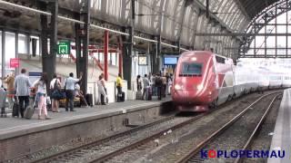 NS Treinen op Amsterdam Centraal - 17 augustus 2012