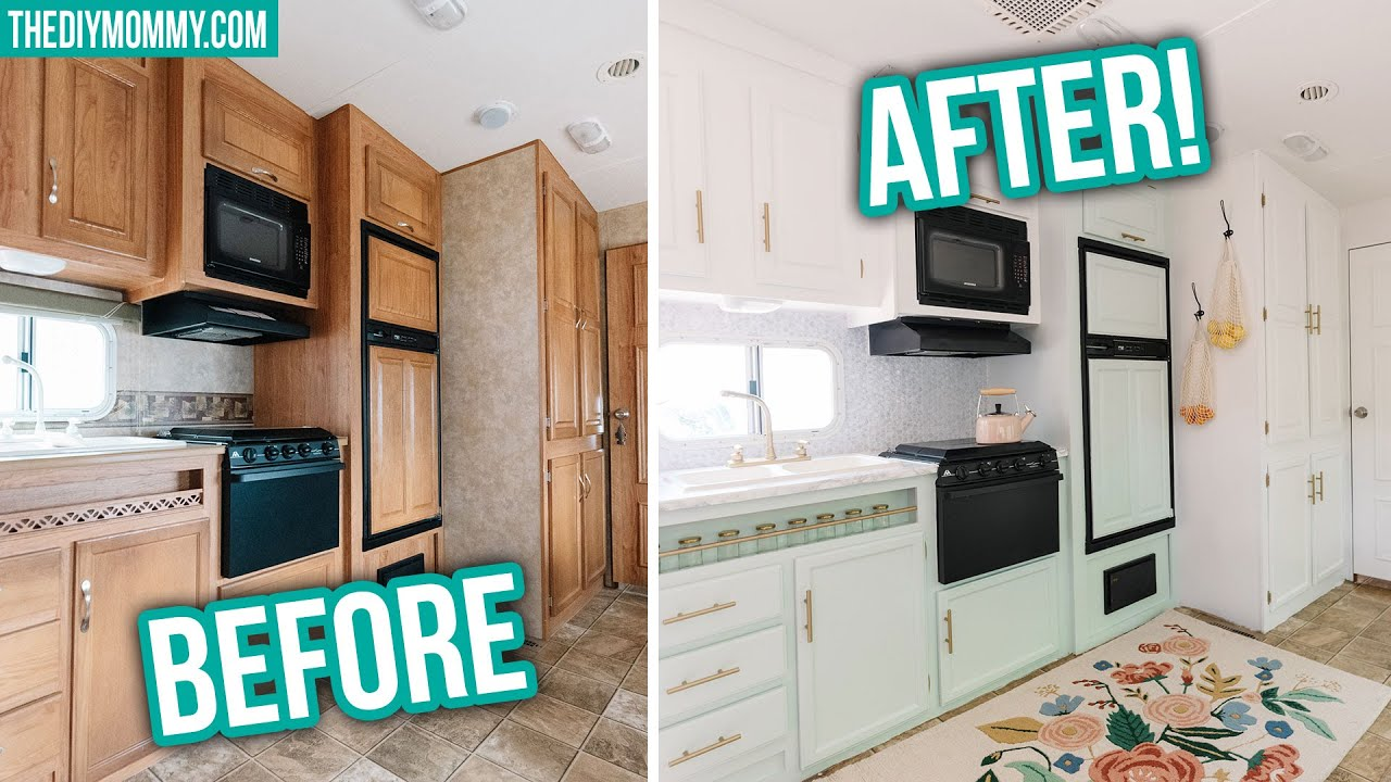 Rv Renovation Diy Small Kitchen Makeover Step By Step Youtube