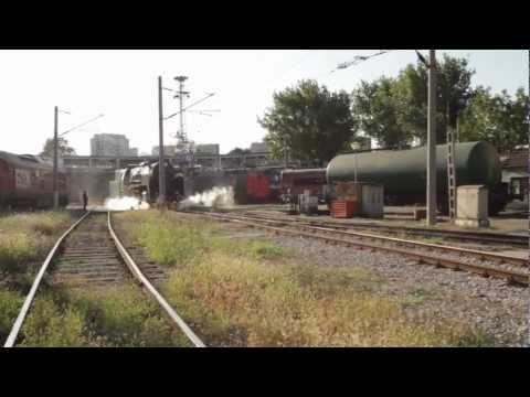 Bulgarian State Railways Class 03.12 steam locomotive moving about in Ruse depot